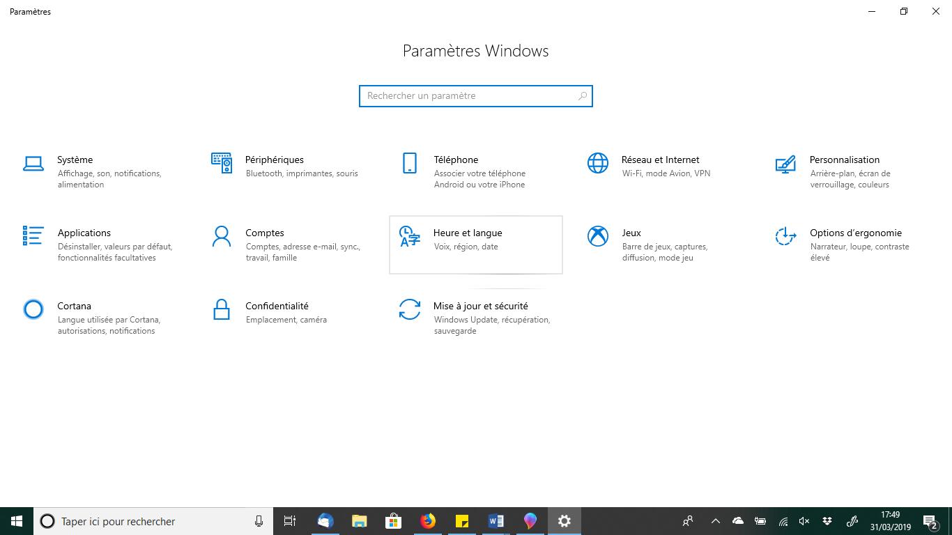 Astuces pratiques PC agility heure et langue