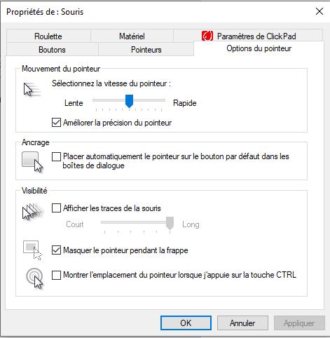 Astuces pratiques PC agility paramètres Souris