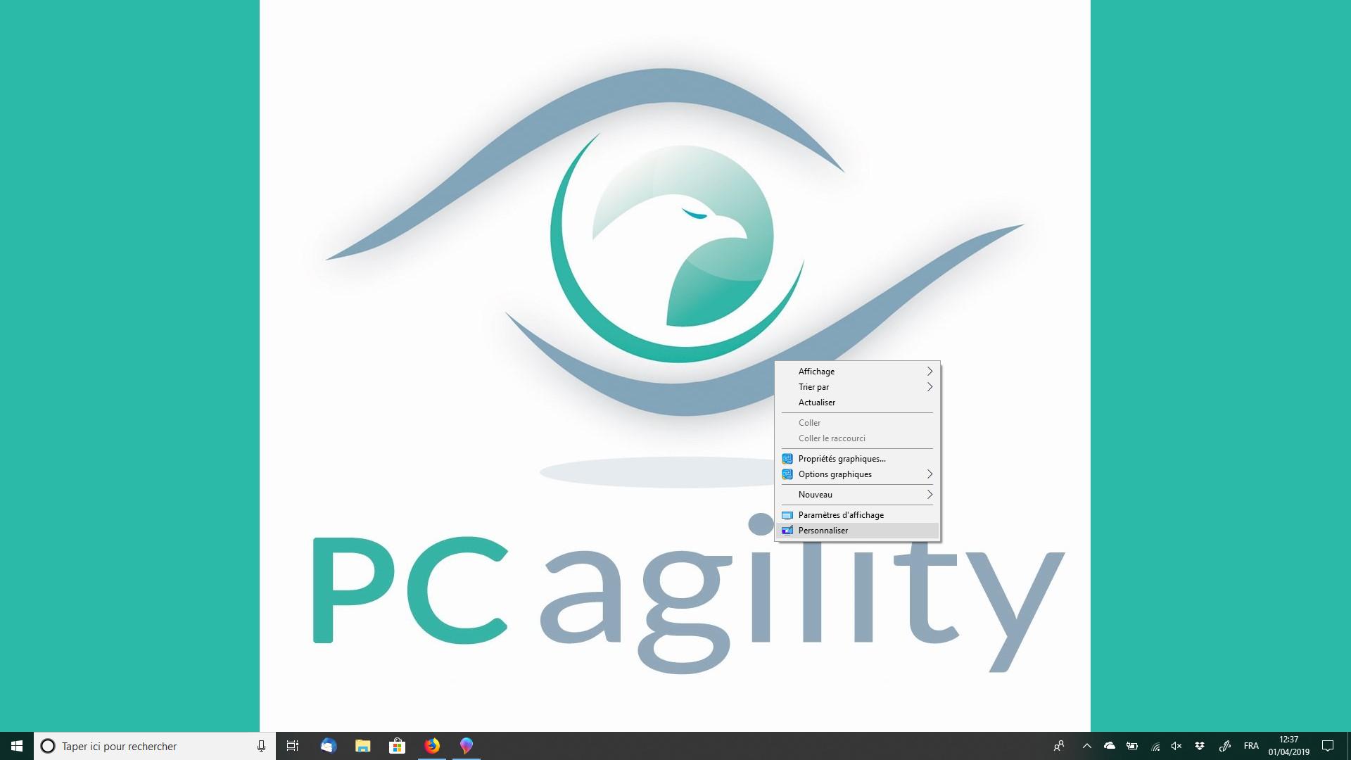 Astuces pratiques PC agility changer fond d'écran